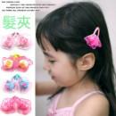 【兒童造型髮式系列一組2入】韓風設計款卡哇伊蕾絲花朵小免絨球髮夾(每包2入)/兒童丫夾/兒童髮飾/兒童禮物