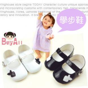 【給寶寶人生第一步的小鞋子】黑白配亮面漆皮淑女包鞋款學步鞋/學步鞋/寶寶鞋/嬰幼兒鞋/外出休閒鞋