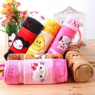 【兒童文具系列】可愛卡通絨布鉛筆盒也可當化妝包/筆袋/文具/開學用品/兒童節禮物