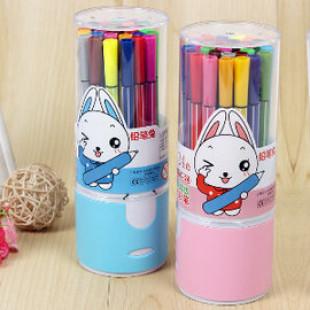 【孩子的啟蒙來自父母的用心,讓寶貝趣味自動的學習】18色安全無毒-可水洗水彩筆造型盒裝色筆/繪畫用具/著色彩色筆