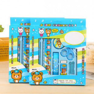 【兒童文具系列】文具組合8件超值裝/文具組/鉛筆盒/開學用品/兒童節禮物/兒童獎勵用品