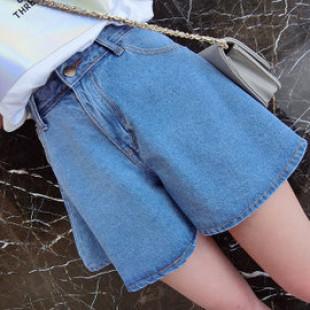 【大童服飾,親子裝時尚款就是愛牛仔系列】時尚設計款牛仔褲裙,怎麼搭都好看,春夏牛仔短褲,裙褲40-65公斤