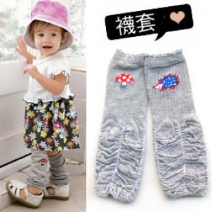 【兒童配件襪套系列】-日單可愛刺蝟和蘑菇 兒童襪套☆冬天也可當袖套,春夏天可當裝飾新潮配件或寶寶爬行護套