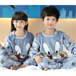 【兒童秋冬寒流保暖禦寒睡眠套裝服飾】寒冬最溫暖,泡湯,睡覺,早上起床,沐浴完,一套多用,兒童珊瑚絨保暖舒適睡袍套裝