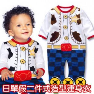 【秋冬連身衣系列】新款日單假二件式造型連身衣/長袖連身衣/兒童服飾 2款 80-90-95CM