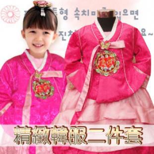 【童年只有一次,珍藏回憶必備款】韓服舖棉保暖套裝~背心裙洋裝+外套3色/中國過年服飾/民族服飾/韓服