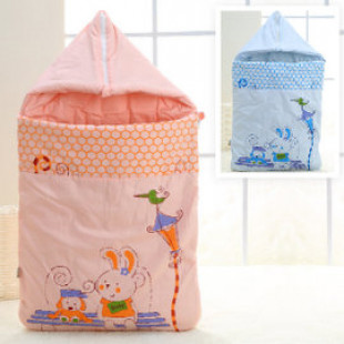 【兒童睡袋】多功能帶帽信封睡袋,春涼秋風的透氣舒適棉質睡袋的極品,保暖舒適獨特設計/初生寶寶包被/包毯/彌月好禮