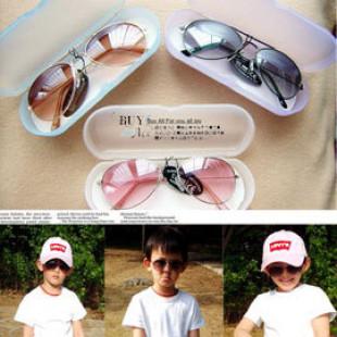 【夏日兒童防護系列】韓國防紫外線兒童太陽眼鏡/寶寶眼鏡/造型眼鏡/兒童流行配件/時尚精品~ UV400 時 *附鏡盒及鏡面擦拭布*