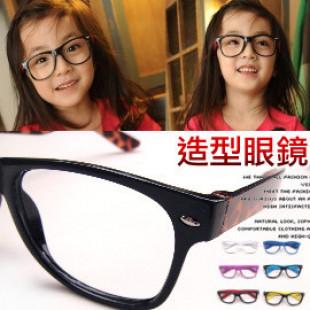 【兒童配件系列,一年四季男女可用】亮彩寬框系列造型眼鏡 韓國兒童造型邊框眼鏡/無鏡片太陽眼鏡/造型眼鏡/流行配件/
