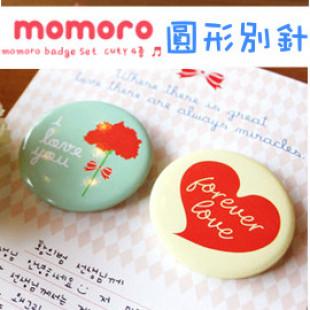 【兒童可愛時尚配件系列】每組2入love圖案小寶貝裝飾好幫手-韓國momoro可愛日式風格扣針/胸針/徽章