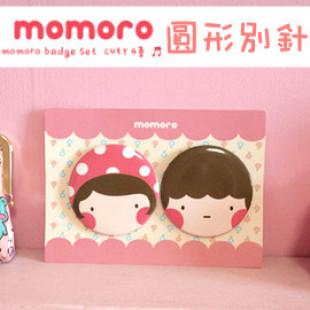 【兒童可愛時尚配件系列】每組2入小寶貝裝飾好幫手-韓國momoro可愛日式風格扣針/胸針/徽章
