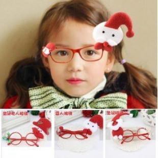 【兒童超酷炫時尚配件】聖誕眼鏡*時尚潮款*親子款無鏡片造型眼鏡/大人小孩都適合,可愛立體公仔聖誕禮物/生日禮物☆