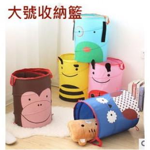 【媽咪的好幫手,也訓練寶貝從小養成自律,收拾自己的貼身小衣物玩具】可愛圖案可摺疊收納筒 /收納箱/置物籃