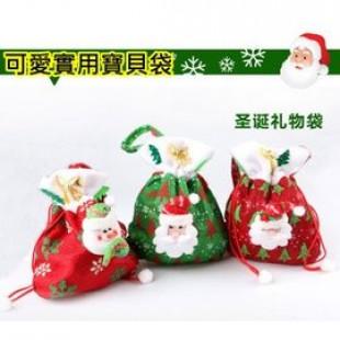 【兒童百貨,揹包配件收納袋系列】裝禮物或寶貝配件,節慶聖誕跨年part不可缺可愛提袋/立體公仔聖誕禮物袋/生日禮袋☆