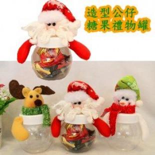 【兒童百貨,揹包配件收納袋系列】聖誕糖果罐,聖誕公仔糖果罐,禮物罐,裝禮物或寶貝配件,可愛立體公仔聖誕禮物袋/生日禮袋☆