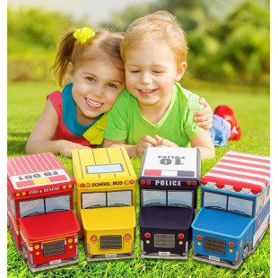 大款3用超級好物~是玩具也是椅子也是收納箱,兒童卡通汽車多功能折疊整理箱 玩具收納箱 板凳 置物箱可折疊儲物箱不占空間,收納超EASY,兒童汽車收納凳可坐人的卡通換鞋凳折疊儲物箱盒