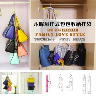 【生活居家百貨系列】包包收納袋多層牆上懸掛式衣櫃收納掛式壁掛/布藝整理袋