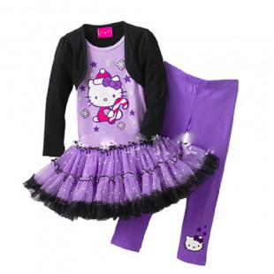 《KITTY聖誕系列》~KITTY聖誕套裝~連身裙/聖誕節童裝/萬聖節套裝/女童連身裙/套裝